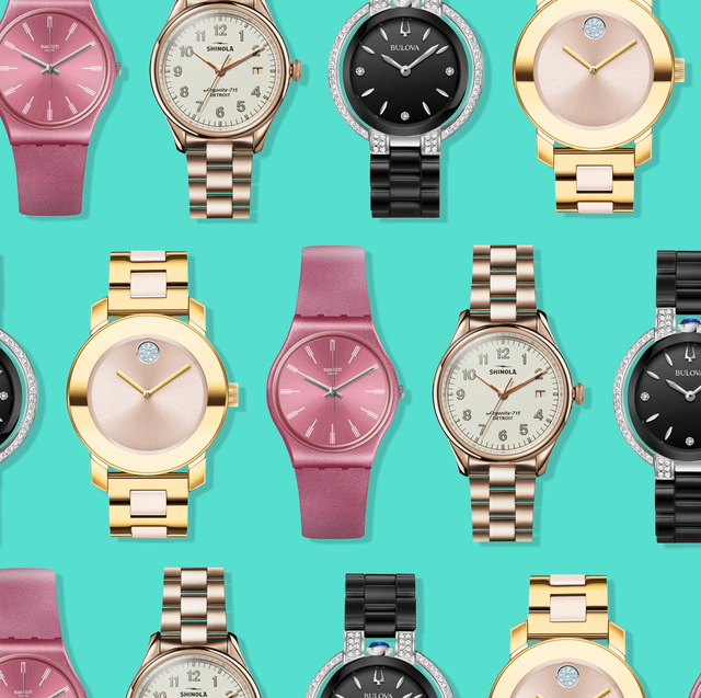 Analog watch, Watch, Watch accessory, Product, Pink, Fashion accessory, Material property, Brand,