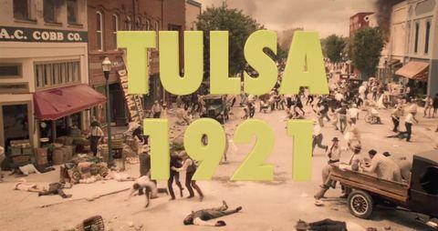 escena de la masacre de tulsa 1921