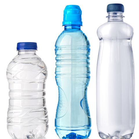 water plastic bottle isolated