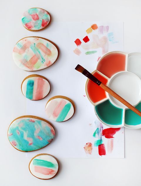 watercolor easter egg cookies diy