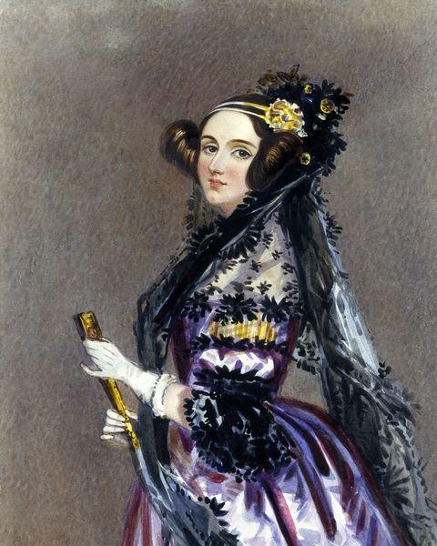 Ada King, Countess of Lovelace, 1840.