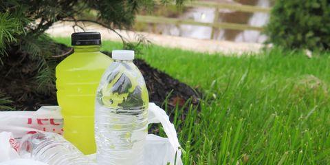 Liquid, Fluid, Drinkware, Bottle, Plastic bottle, Water bottle, Drink, Plastic, Grass family, Bottle cap,