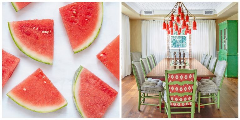 Watermelon Home Decor - Pink and Green Decorating Ideas