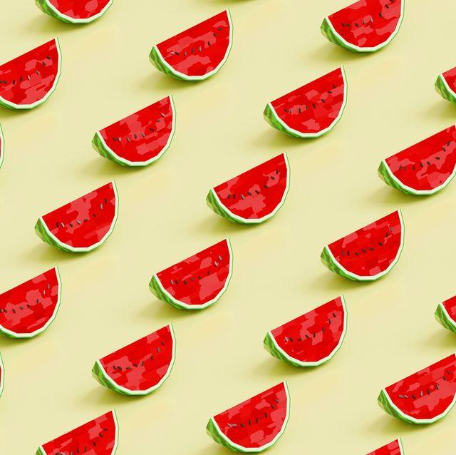 watermelon low poly pattern background