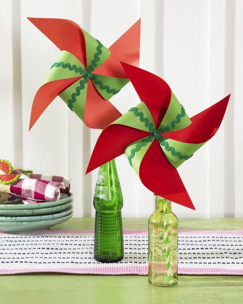 paper watermelon pinwheels