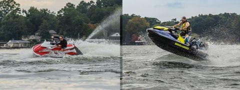 yamaha waverunner gp1800r ho and seadoo wake 170