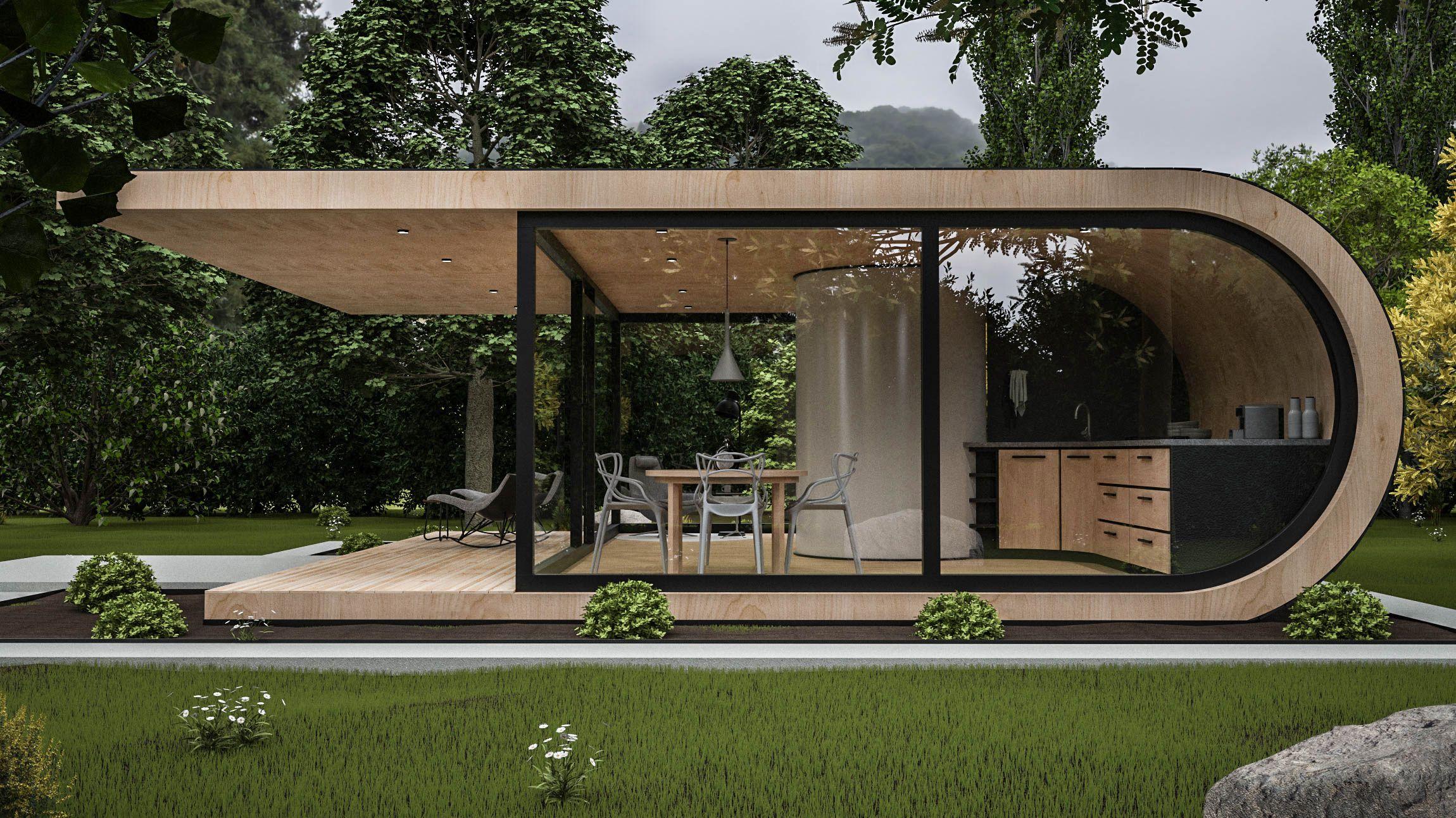 La mini casa da giardino che sembra una scena di Inception