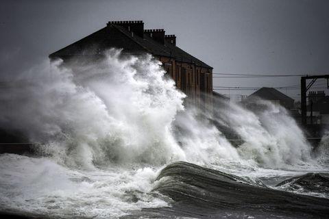 Storm Diana Lashes The UK Coast
