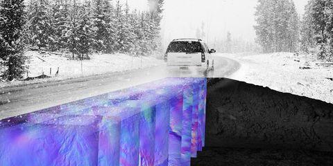 Snow, Freezing, Winter, Purple, Vehicle, Water, Car, Ice, Tree, Luxury vehicle,