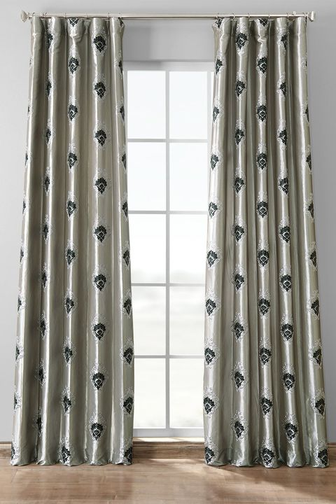 Curtain, Window treatment, Interior design, Window, Textile, Room, Floor, Interior design, Furniture, Door,