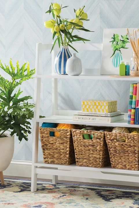 wayfair bookshelf with decorative accents