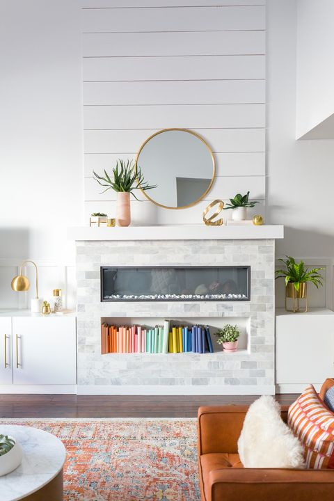 10 Chic Fireplace Tile Ideas Tile Designs For Your Fireplace Surround