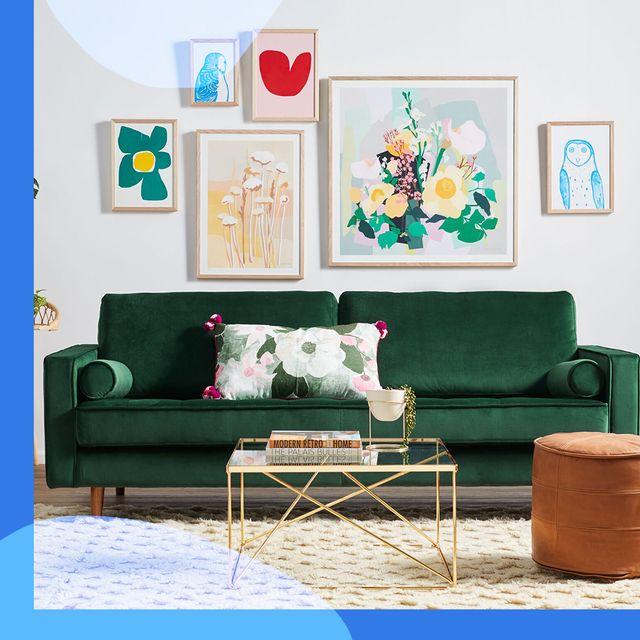 wayfair green velvet couch and bath caddy