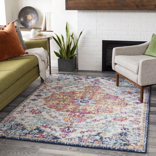 hillsby blueorange rug