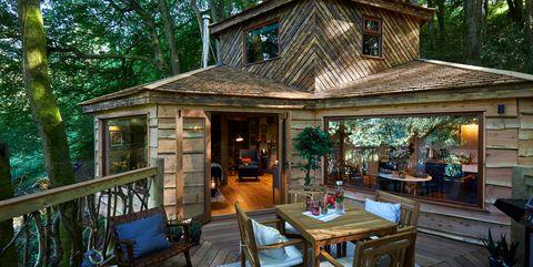 Property, Home, Building, Room, House, Real estate, Deck, Tree, Cottage, Estate,