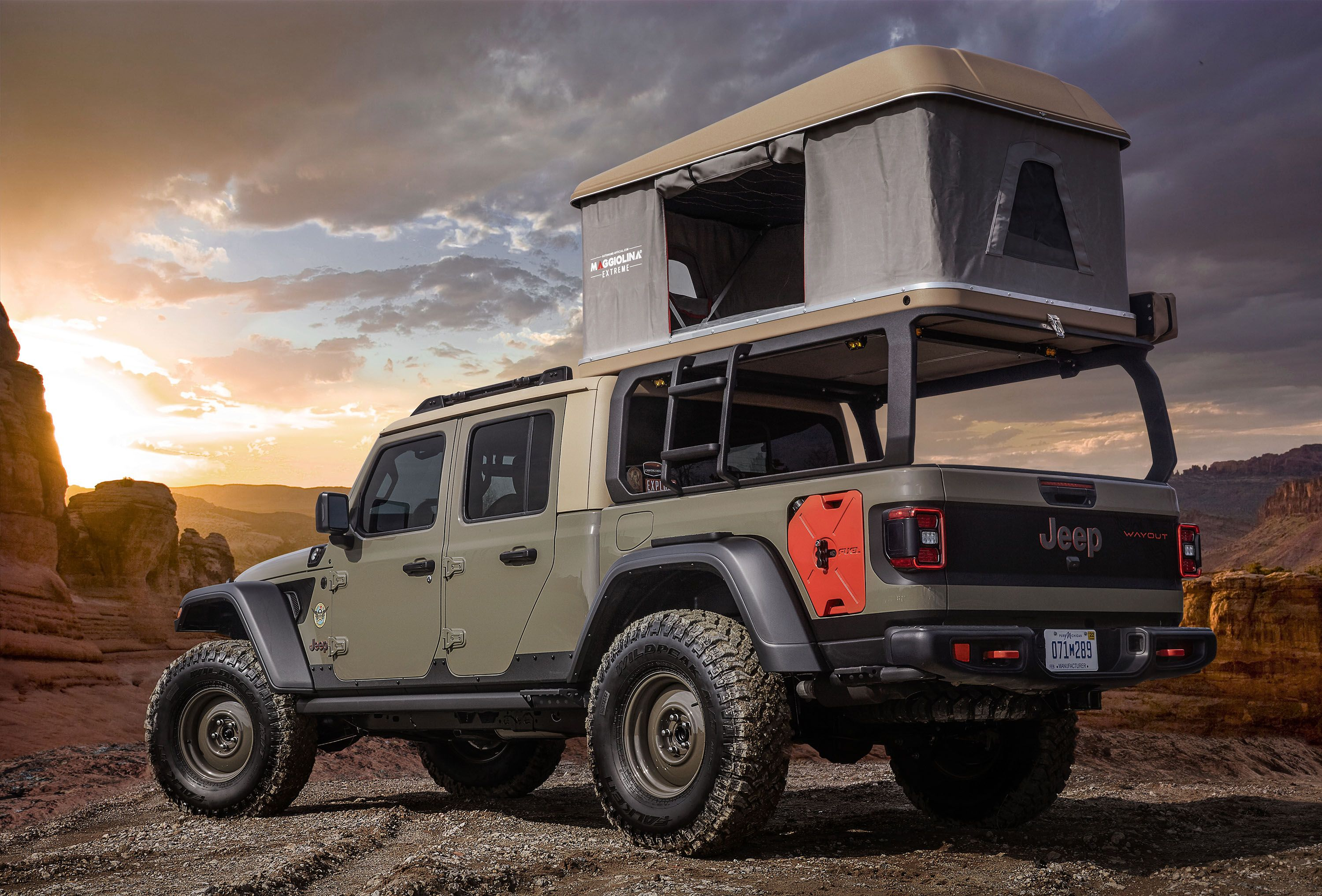 The Jeep Wayout Concept Sleeps Two and Takes Overlanding to a New Level