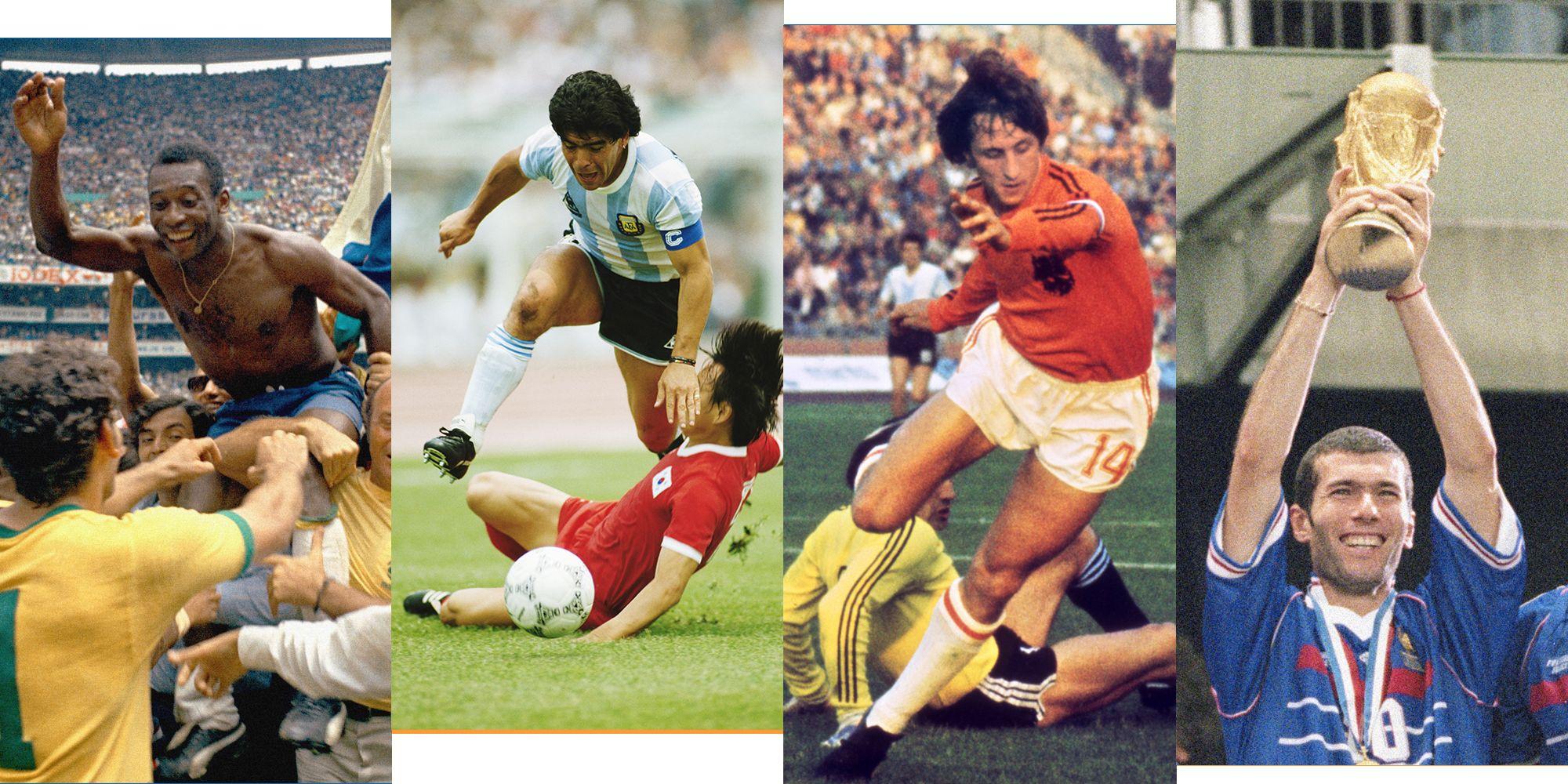 Zidane Cruyff Maradona Pele World Cup