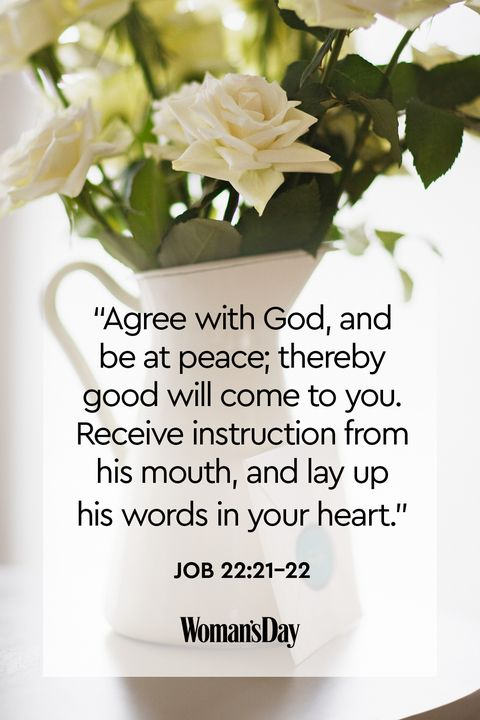 bible verses about peace - job 22:21-22