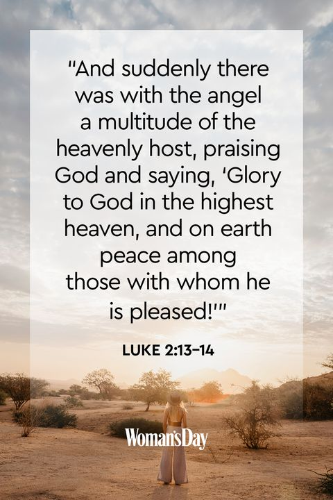 bible verses about peace - luke 2:13-14