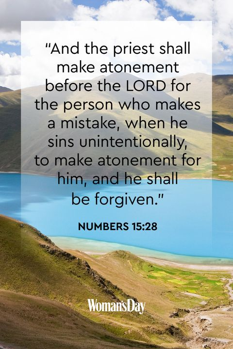 bible verses about forgiveness- Numbers 15:28