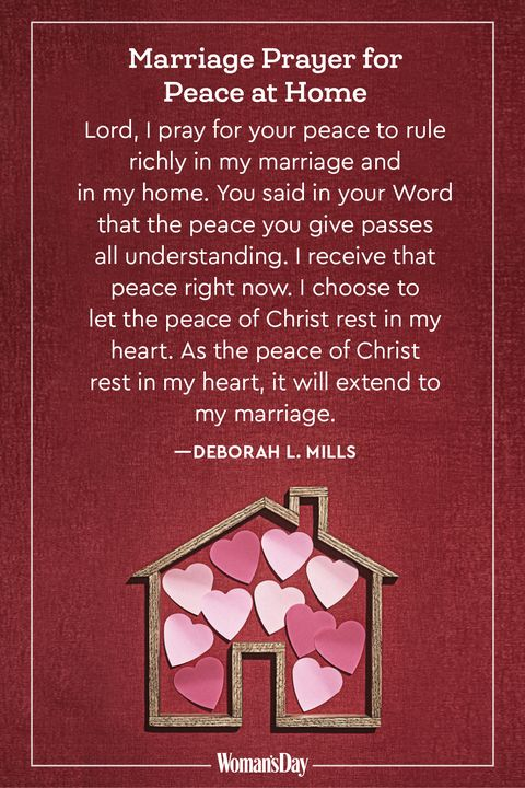 Marriage Prayers - peace at home