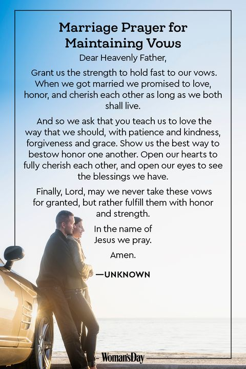 For newlyweds prayer marriage Marriage Prayer