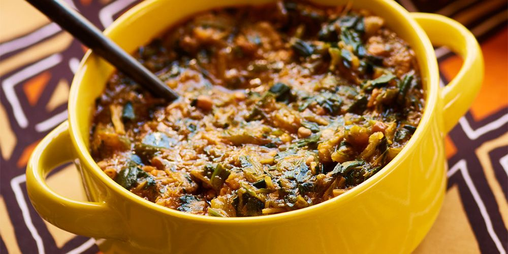 Spicy Okra and Spinach Stew