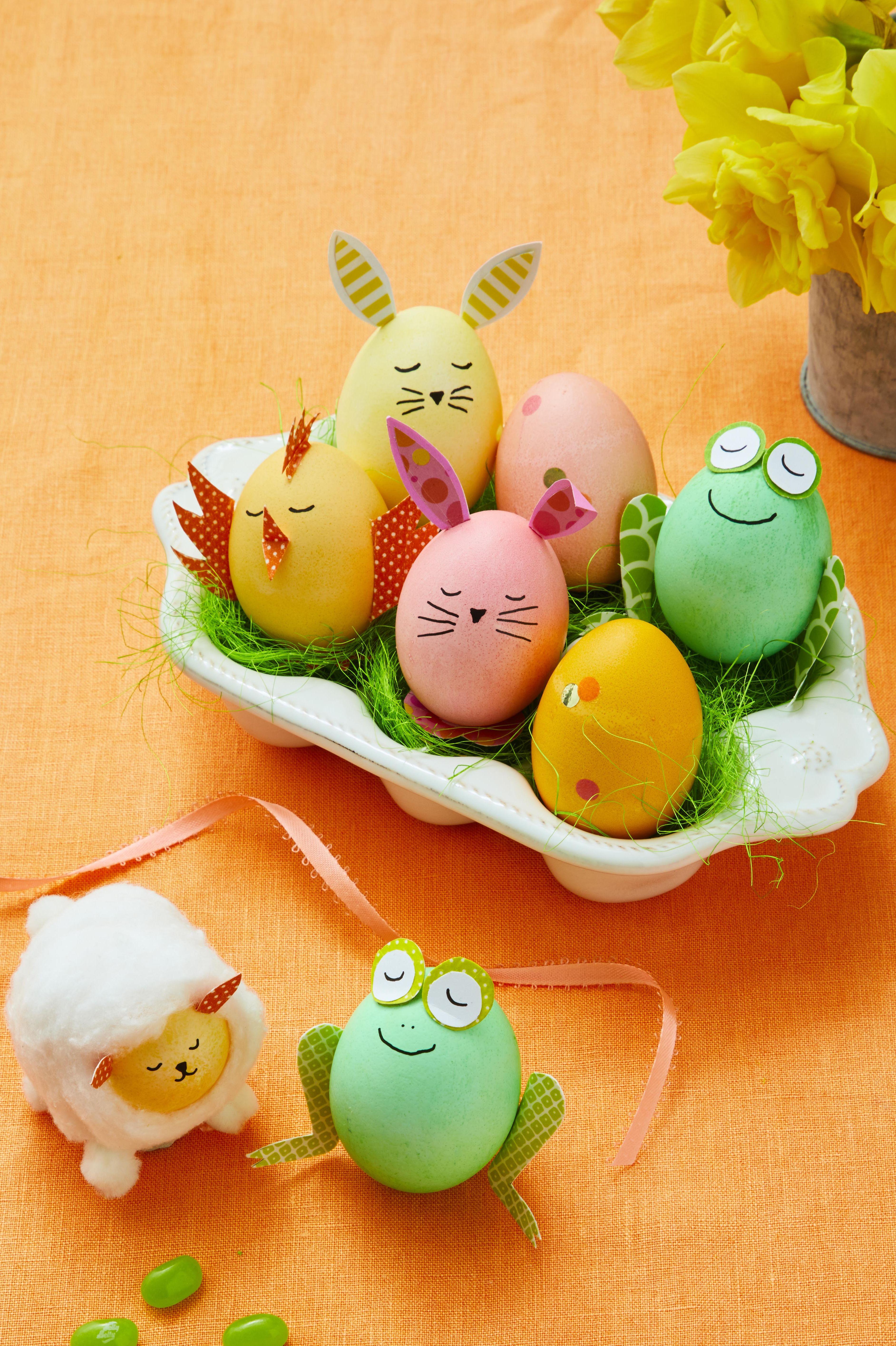bunny egg chick egg sheep egg frog egg