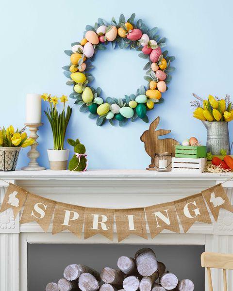 WDYspring wreath diy easter egg