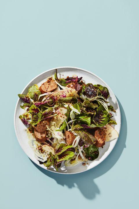 apple salad with caraway vinaigrette