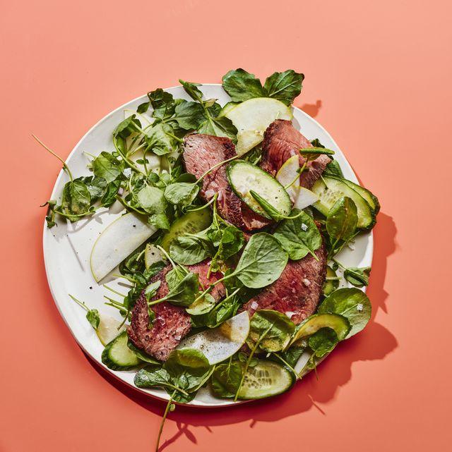 watercress steak salad