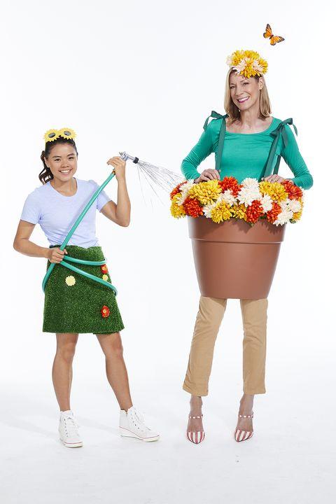 mother daughter halloween costume flower power