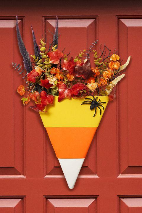 halloween candy corn door decor