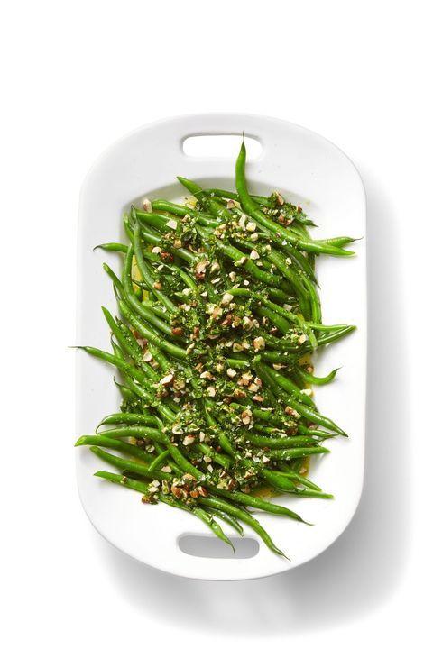 Green Beans with Orange and Almond Gremolata Recipe