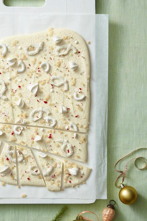 food gifts - white peppermint bark