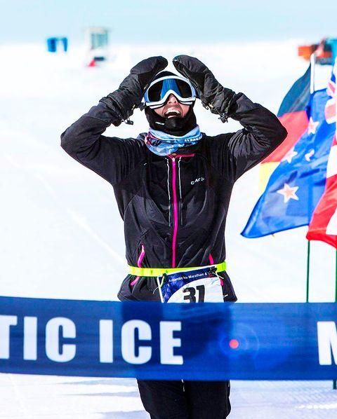 Goggles, Winter, Electric blue, Winter sport, Banner, Snow, Advertising, Ski, Cross-country skiing, Ski cross,
