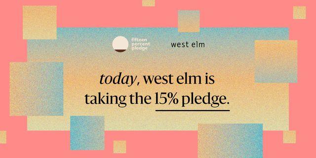 west elm fifteen percent pledge