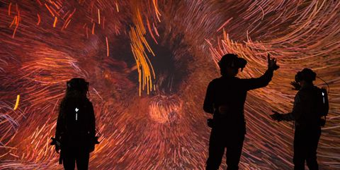 We Live In An Ocean of Air, Marshmallow Laser Feast at Saatchi Gallery, London