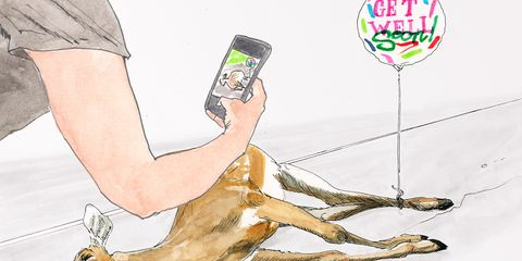 Cartoon, Illustration, Hand, Fawn, Fictional character,