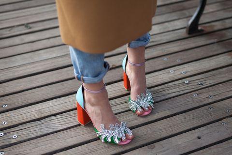 Colorful fashionable women's footwear