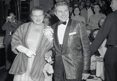 Liberace With His Mother
