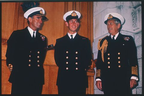 Prince Charles with Captain and Admiral