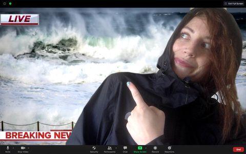 weather reporter zoom halloween costume