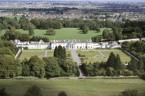 Aerial photography, Bird's-eye view, Estate, Tree, Photography, Landscape, Grass, Building, Mansion, Architecture,