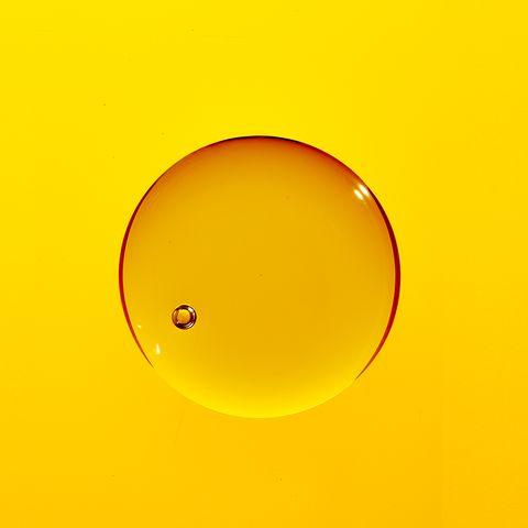 Yellow, Orange, Amber, Circle, Water, Macro photography, Sun,