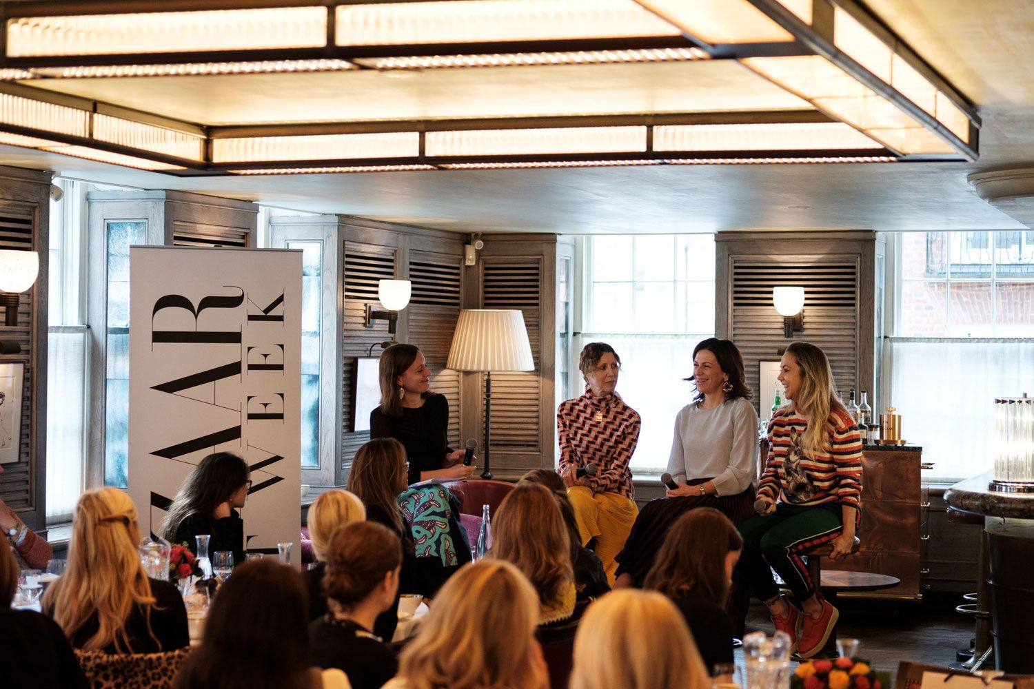 Frances Hedges, Valeria Napoleone, Martina Batovic and Lisa Schiff in conversation at 34 Mayfair