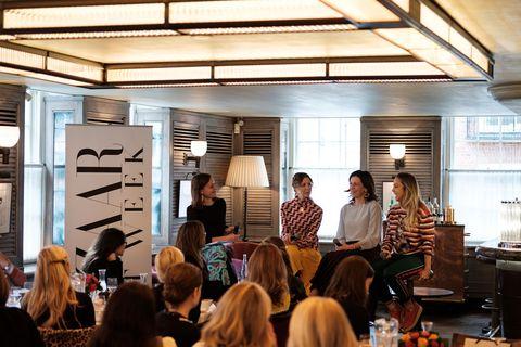 Frances Hedges, Valeria Napoleone, Martina Batovic and Lisa Schiff in conversation at 34 Mayfair