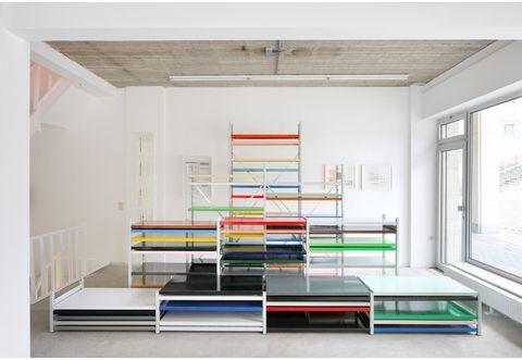 Shelf, Furniture, Room, Shelving, Interior design, Building, Architecture, Table, Floor, Ceiling,