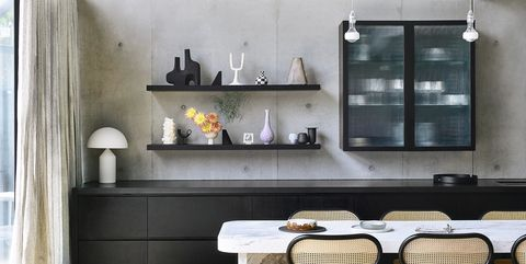 concrete kitchen in a melbourne home by kennon architects