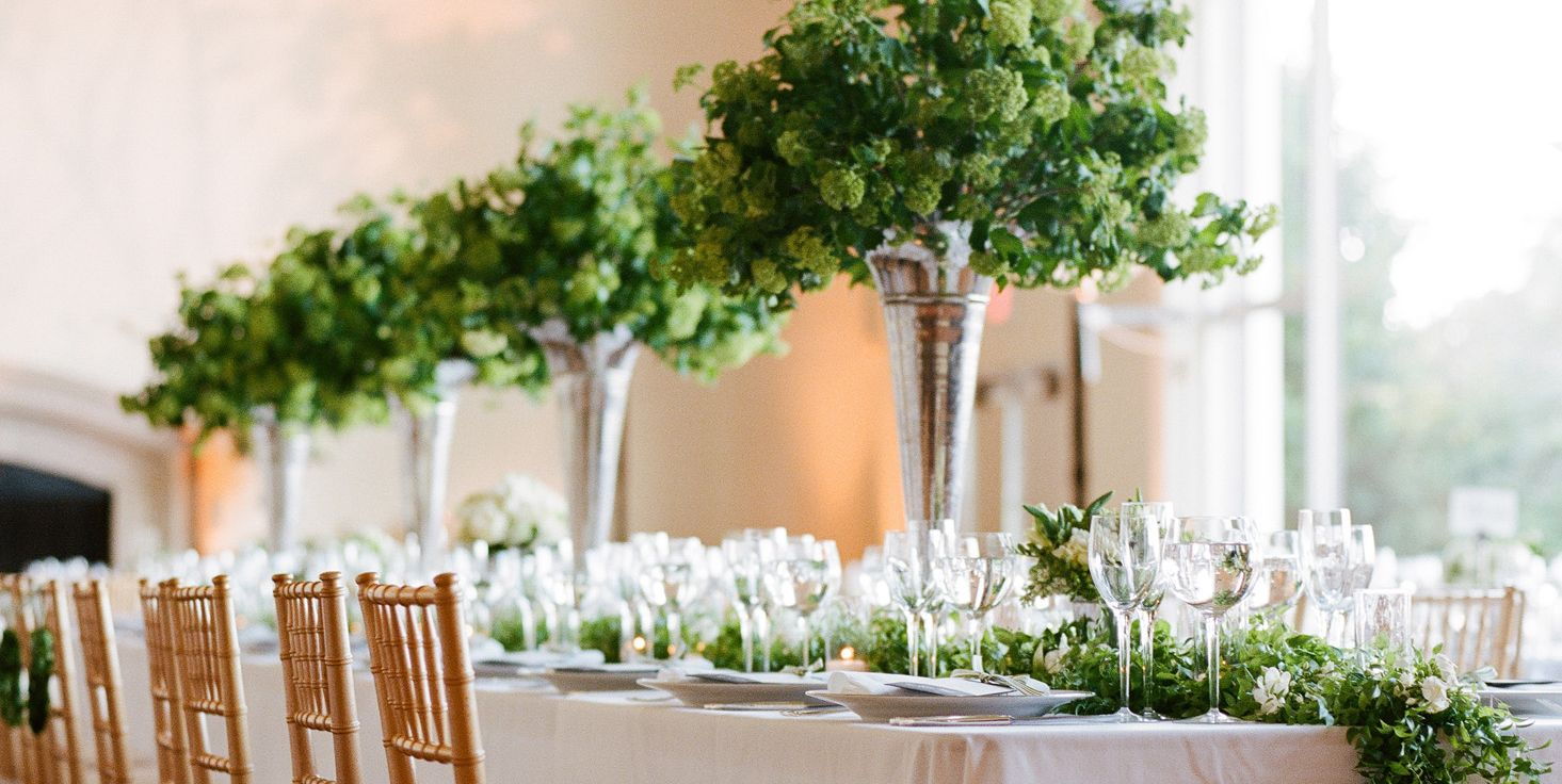 wedding centerpiece greenery